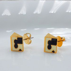 Tory Burch Triangle Enamel Exquisite Earrings